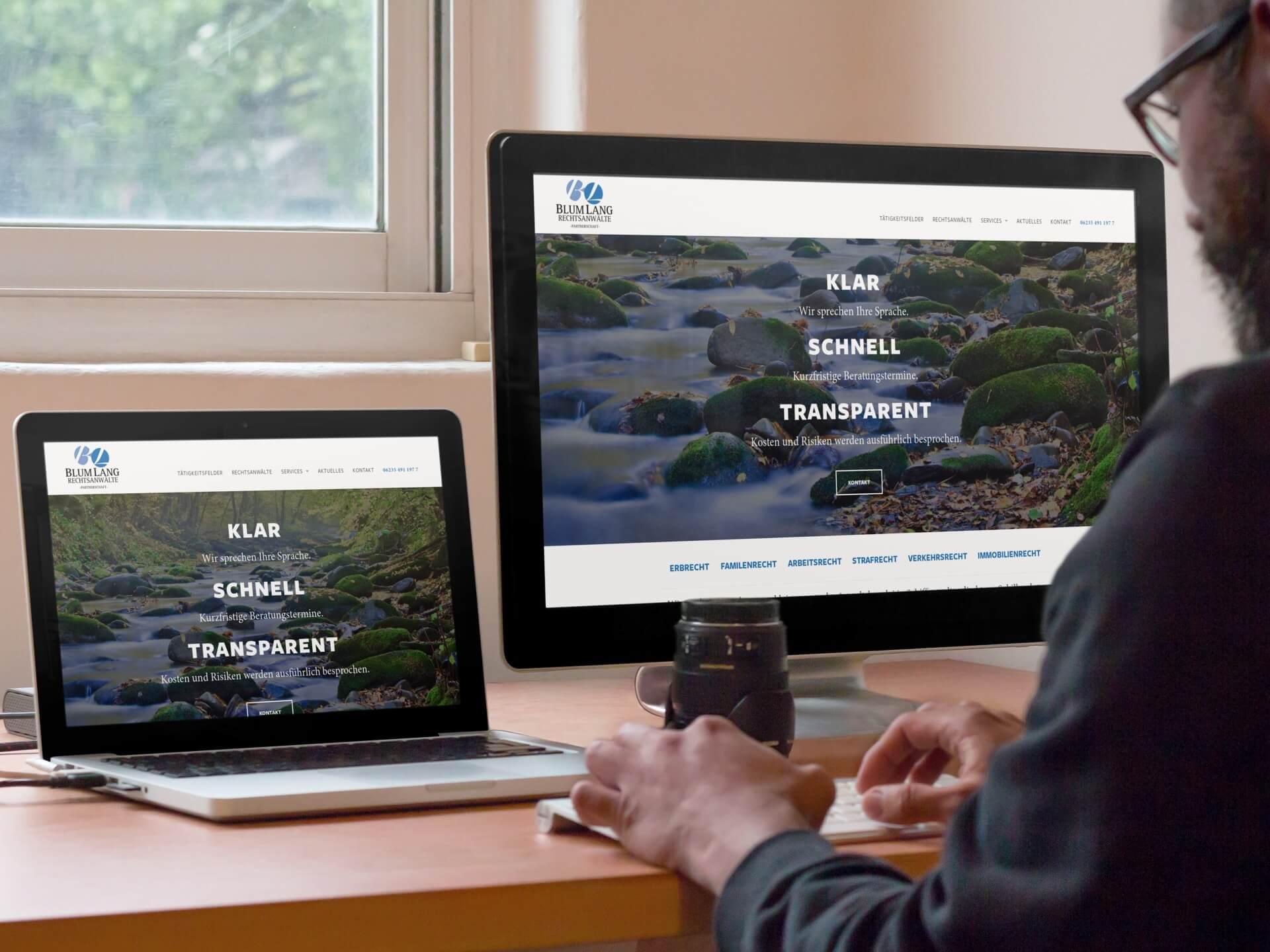 Anwalt Website BlumLang Screenshot