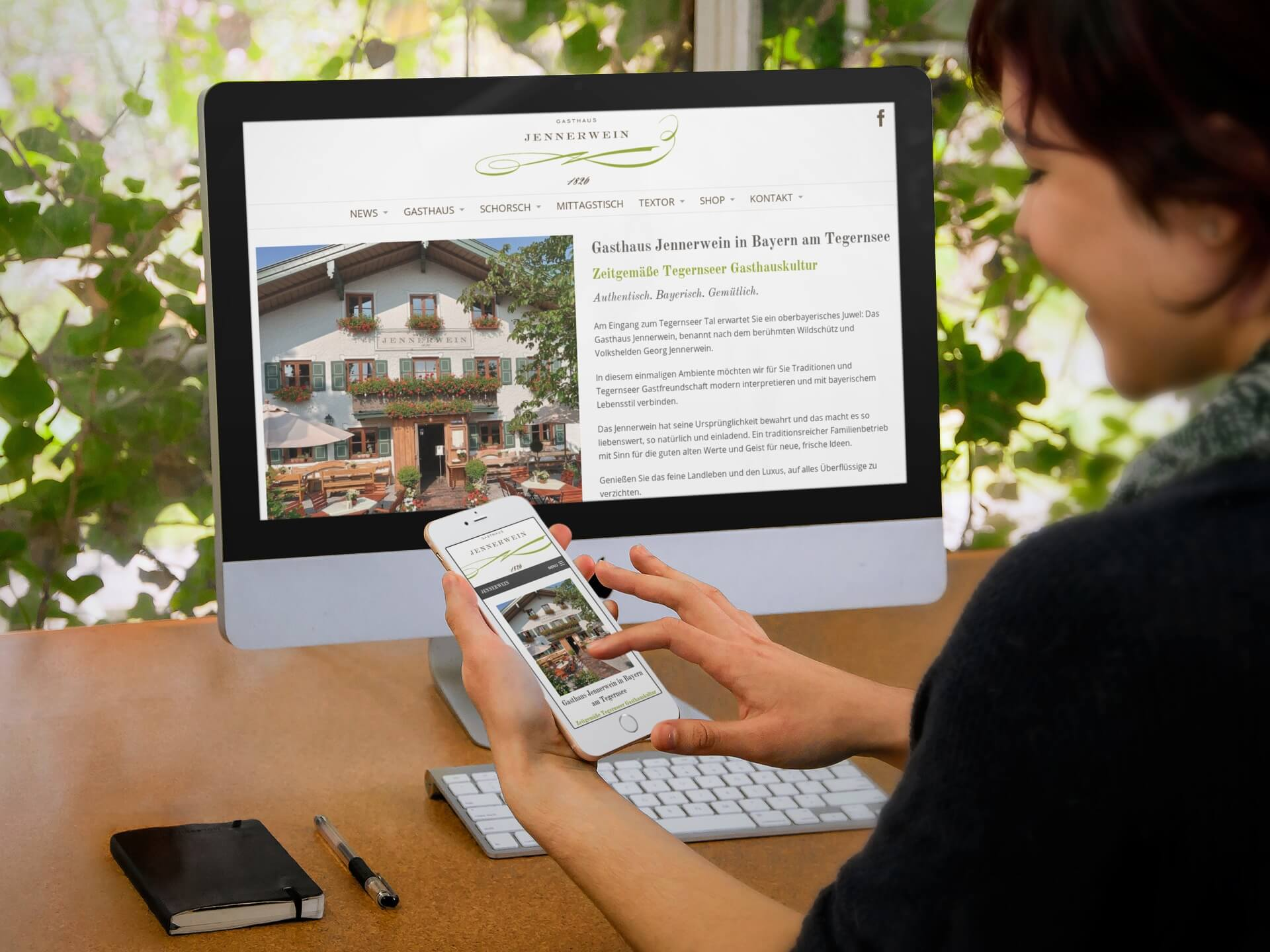 Restaurant Website Gasthaus Jennnerwein Screenshot
